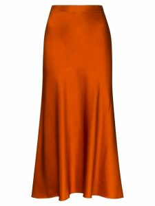 Rosetta Getty slip maxi skirt - ORANGE