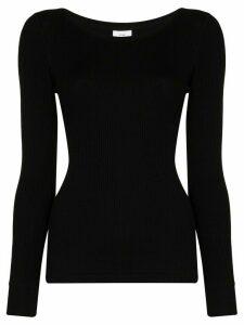 Hyke ribbed knit top - Black