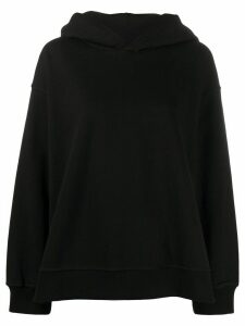 Mm6 Maison Margiela logo print oversized hoodie - Black
