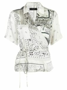AMIRI bandana-print wrap top - White