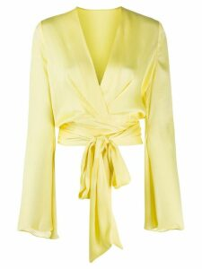 Galvan Corolle wrap blouse - Yellow