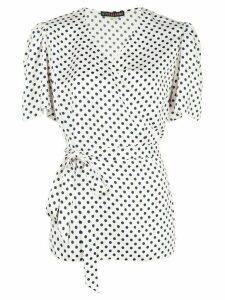 Alexa Chung That's A Wrap polka dot top - White
