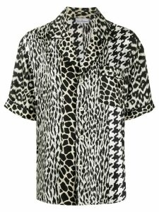 Pierre-Louis Mascia mix-print silk shirt - Black