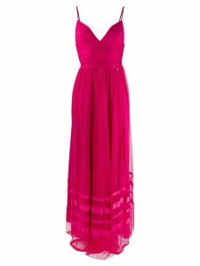 LIU JO plunge maxi dress - PINK