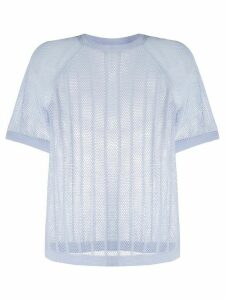 Filippa K Soft Sport mesh knit T-shirt - Blue