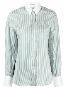 Brunello Cucinelli striped button down shirt - White