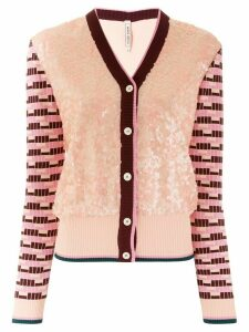 Antonio Marras sequinned panel cardigan - Multicolour