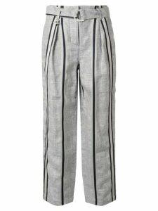 Lorena Antoniazzi striped straight-leg trousers - Blue