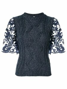Antonio Marras metallic cable-knit top