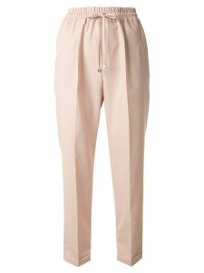 Kiton cropped track trousers - PINK