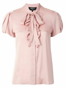Paule Ka ruffled bow detail blouse - PINK