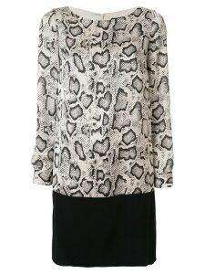 Paule Ka animal print shift dress - Grey