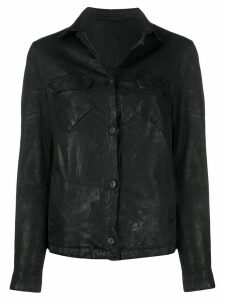 Salvatore Santoro fitted shirt jacket - Black