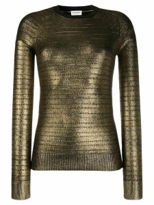 Saint Laurent metallic-effect knitted jumper - GOLD