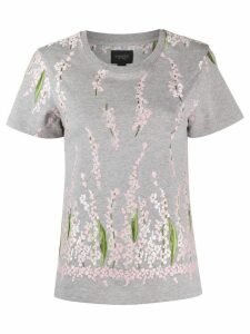 Giambattista Valli floral embroidered cotton T-shirt - Grey