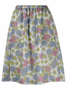 YMC floral print skirt - PURPLE