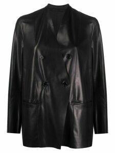 Salvatore Santoro polished double-breasted blazer - Black