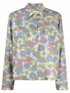 YMC floral print shirt - Blue