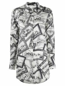 Joseph printed long shirt - White