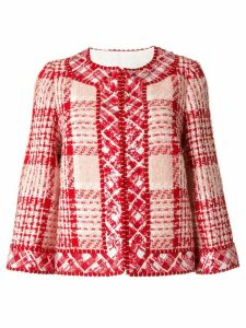 Andrew Gn tweed cropped jacket - Red