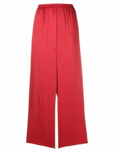 Forte Forte high-waisted wide leg trousers - Red