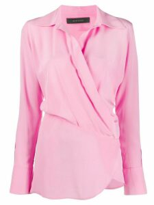 Federica Tosi wrap front silk shirt - PINK