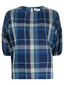 YMC checked top - Blue