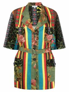 Pierre-Louis Mascia mix print jacket - Green
