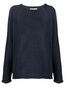 YMC crew neck loose-fit jumper - Blue