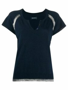 Zadig & Voltaire metallic detail T-shirt - Blue