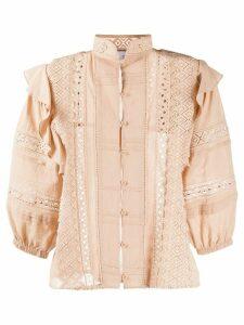 IRO Redona cropped sleeve blouse - NEUTRALS