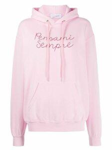 Giada Benincasa Pensami Sempre hooded sweatshirt - PINK