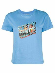 See by Chloé graphic logo print T-shirt - Blue
