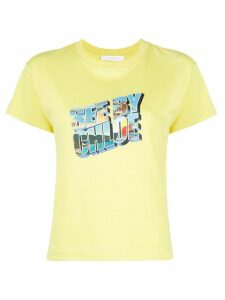See by Chloé graphic logo print T-shirt - Yellow