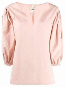 Jil Sander keyhole blouse - PINK