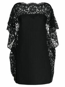 Valentino cape-style lace-embellished dress - Black
