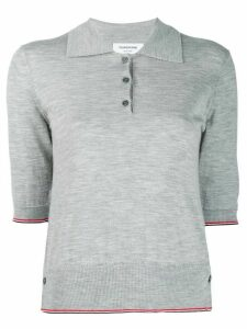 Thom Browne Knitted Cashmere Polo Shirt - Grey