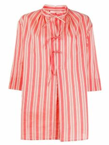Aspesi flared striped blouse - PINK