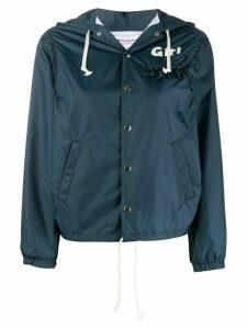 Comme Des Garçons Girl ruffle trim hooded jacket - Blue