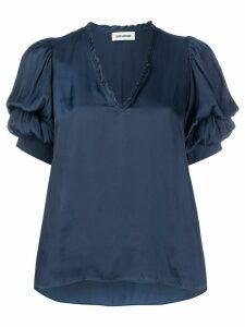 Zadig & Voltaire V-neck loose fit top - Blue