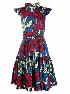 La Doublej tiered floral print dress - Blue