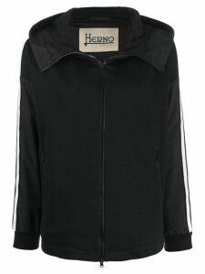 Herno side stripe hoodie - Black