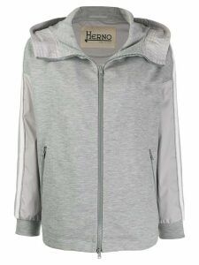 Herno hooded panelled jacket - 9494 GREY