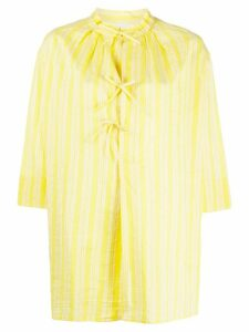 Aspesi flared striped blouse - Yellow