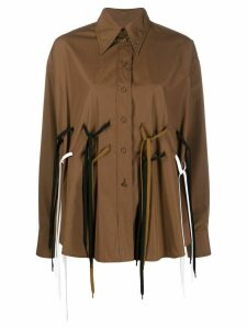 Ports 1961 string detail shirt - Brown