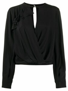 Pinko key-hole long sleeve blouse - Black