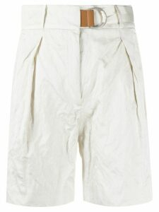 Fabiana Filippi crinkled shorts - White