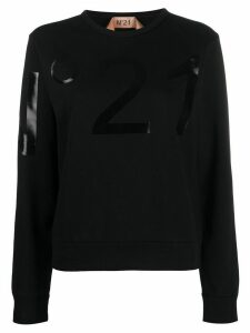 Nº21 logo detail sweatshirt - Black