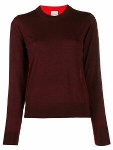 Paul Smith contrasting panel sweater - Red