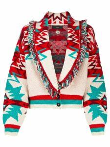Alanui southwestern-style cardigan - Red
